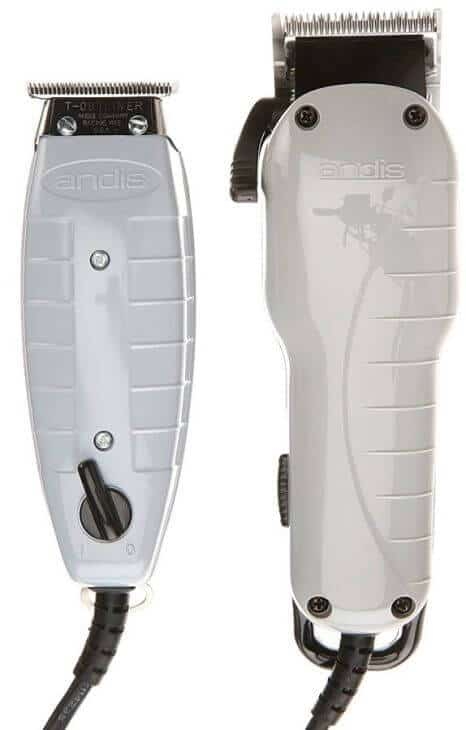Electric clipper + an Andis T-blade hair trimmer - Andis professional barber combo in the fullest.