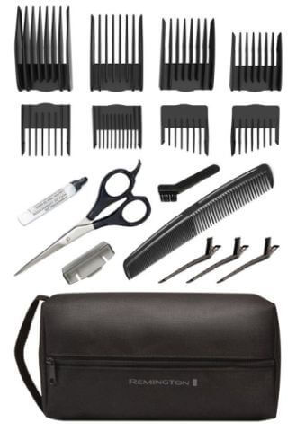Aside from the HKVAC2000 vacuum cleaner hair cutter, you get a tasty 18-piece kit.