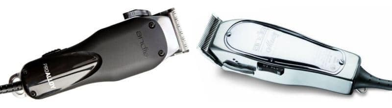 A showdown: Andis Pro Alloy vs Master electric hair clippers.
