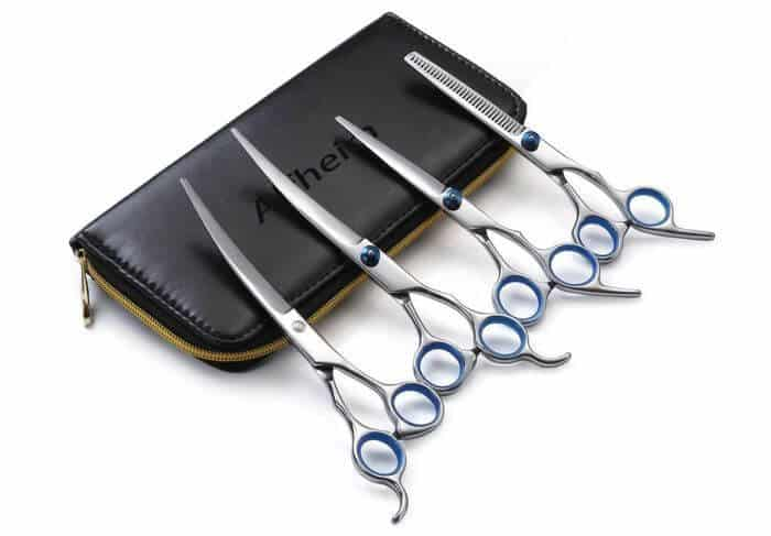 Extremely stylish: Alfheim dog grooming shears are a full on deluxe experience.
