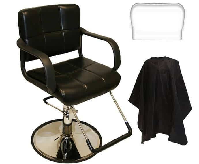 Our pick for the best barber chair: LCL Beauty, a non-reclyning, yet stylish furniture piece.