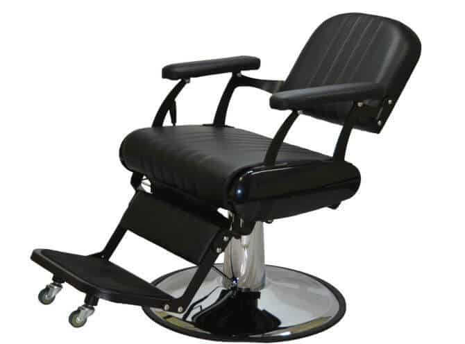Headrest off in this all purpose barber chair.