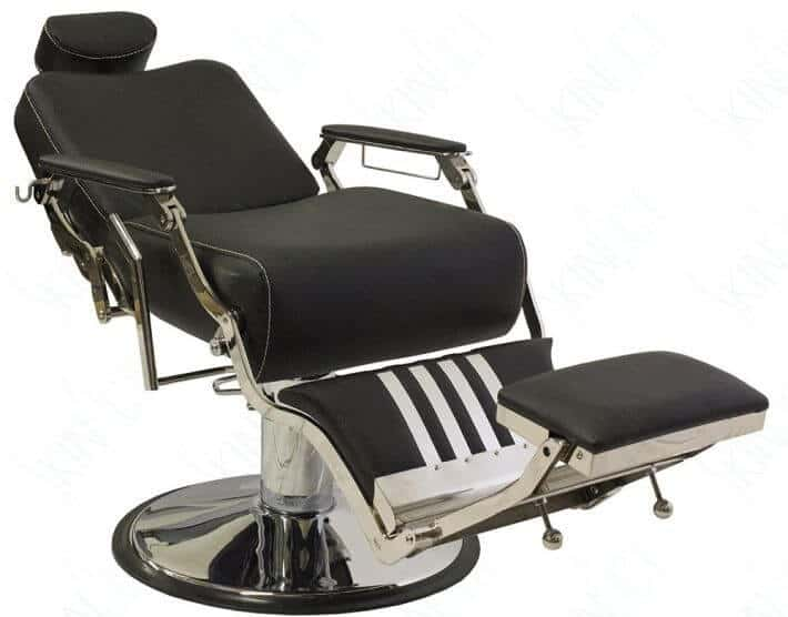 SkinAct offers a great vintage barber chair with two color schemes and lots of comfort.