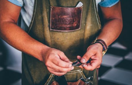 Barber aprons and the thin line between fashion and utility