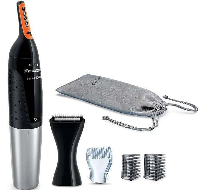 Norelco offer their best trimmer for male nose hair, and it's versatile for sure.