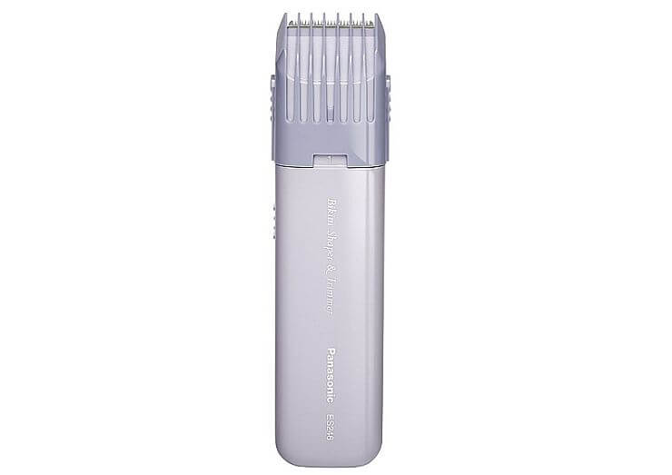 Small and neat, but with no wet operation: this is a good bikini trimmer for sensitive skin from Panasonic.
